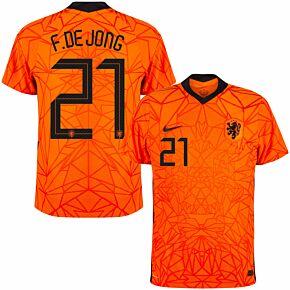 20-21 Holland Vapor Match Home Shirt + De Jong 21 (Official Printing)