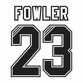 Fowler 23 (Retro Flock Printing) 95-96 Liverpool Away