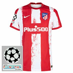 21-22 Atletico Madrid Dri-Fit ADV Home Shirt + UCL Starball + UEFA Foundation Patches