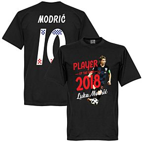 Modric 10 Player of the Year 2018 Tee - Black