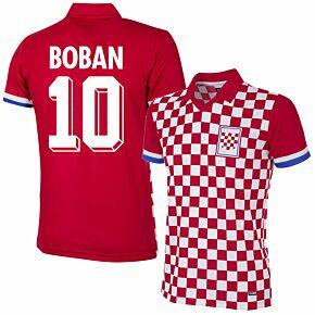 1992 Croatia Home Retro Shirt + Boban 10 (Retro Flock Printing)