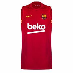 20-21 Barcelona Breathe Strike Sleeveless Top - Red