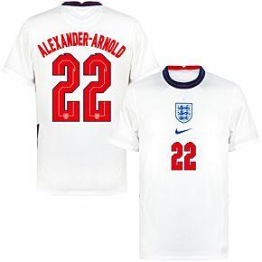 20-21 England Home Shirt + Alexander-Arnold 22 (Official Printing)