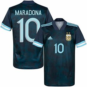 20-21 Argentina Away Shirt - Kids + Maradona 10 (Official Printing)