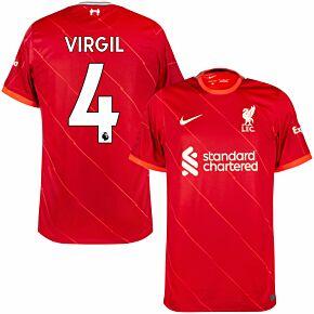 21-22 Liverpool Home Shirt + Virgil 4