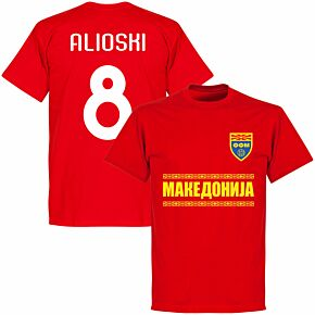 Macedonia Alioshi 8 Team KIDS T-shirt - Red