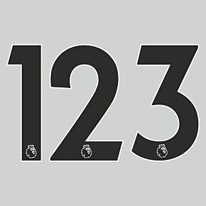 20-21 Premier League Official Adult Player Numbers - Black (230mm)