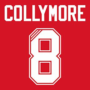 Collymore 8 (Retro Flock Printing) 95-96 Liverpool Home