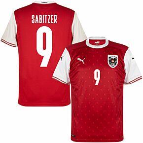 20-21 Austria Home Shirt + Sabitzer 9 (Fan Style Printing)