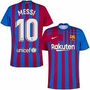 21-22 Barcelona Dri-Fit ADV Match Home Shirt + Messi 10 (Official Printing)
