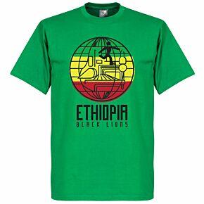 Ethiopia Black Lions Tee - Green