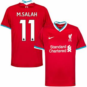 20-21 Liverpool Home Shirt + M.Salah 11