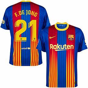 20-21 Barcelona 4th Shirt + F.De Jong 21 (Match Pro Printing)