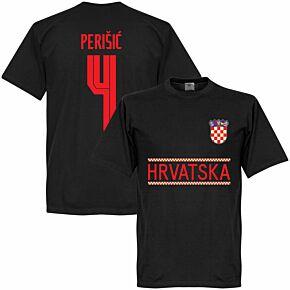 Croatia Perisic 4 Team T-shirt - Black