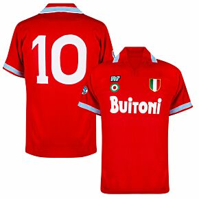 88-89 Napoli Ennerre Authentic Away Remake Shirt - Buitoni Sponsor