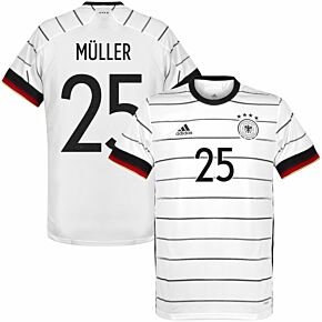 20-21 Germany Home Shirt + Müller 25 (Official Printing)