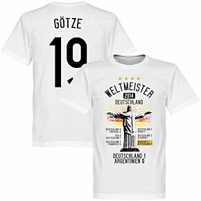 Germany Road To Victory Götze Tee - White