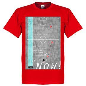 Pennarello Geoff Hurst 1966 Classic Goal Tee - Red