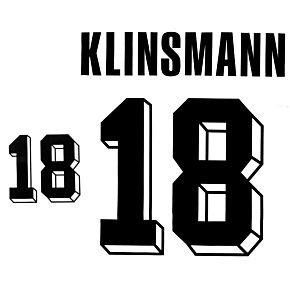 Klinsmann 18 - 1992 Germany Home Authentic Flock Printing