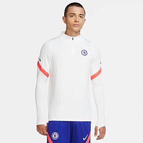 20-21 Chelsea Strike Drill L/S Top CL - White