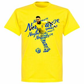 Neymar Script T-shirt - Lemon Yellow