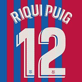 Riqui Puig 12 (Official Printing) - 21-22 Barcelona Home