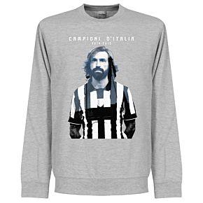Juve Campioni Pirlo Sweatshirt - Grey