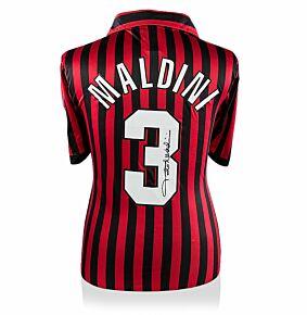 Paolo Maldini Back Signed AC Milan 99-00 Centenary Shirt