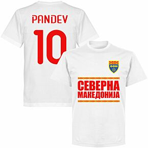 North Macedonia Pandev 10 Team T-shirt - White