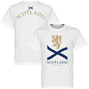 Scotland the Brave KIDS Tee - White