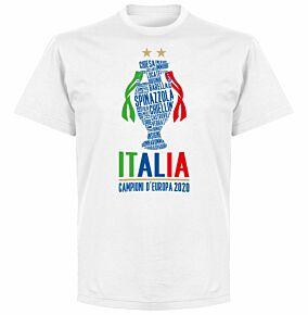 Italia Champions of Europe 2020 T-shirt - White