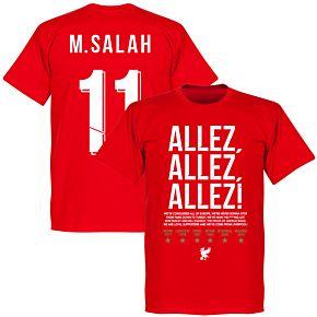 Liverpool Allez Allez Allez M. Salah 11 Tee - Red