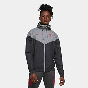 20-21 Liverpool NSW Authentic Windrunner Jacket - Black/Grey