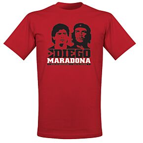 Retake Viva El Futbol Tee - Maradona and Che - Red