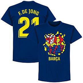 Barcelona F. De Jong 21 Gaudi Crest Tee - Ultra