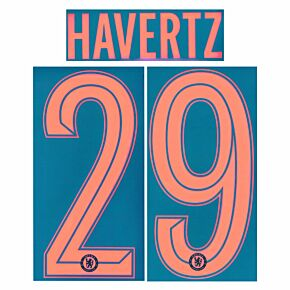 Havertz 29 (Official Cup Printing) 21-22 Chelsea 3rd