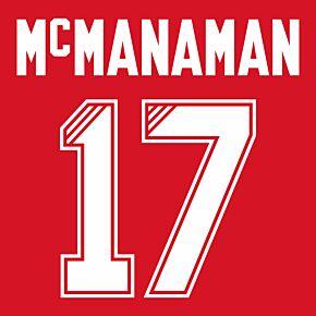 McManaman 17 (Retro Flock Printing) 95-96 Liverpool Home