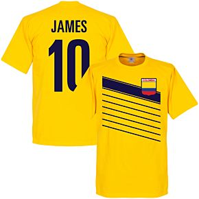 Colombia James 10 Team Tee - Yellow