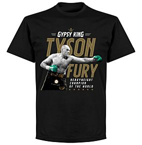 Tyson Fury Heavyweight Champion Picture T-Shirt - Black