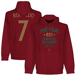 Portugal European Champions 2016 Ronaldo Hoodie - Maroon