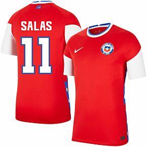 20-21 Chile Home Shirt + Salas 11 (Retro Fan Style Printing)