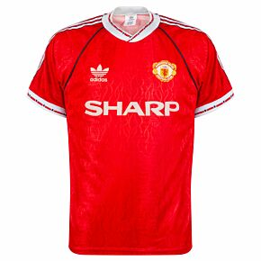 adidas Manchester United 1990-1992 Home Shirt - USED Condition (Good) - Size M