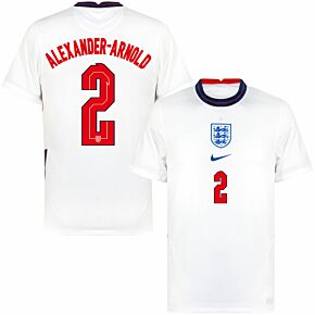 20-21 England Home Shirt + Alexander-Arnold 2 (Official Printing)