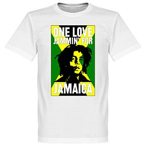 Bob Marley One Love Jammin For Jamaica Tee - White