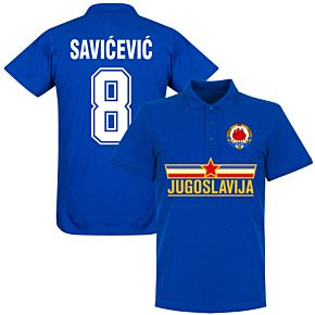 Yugoslavia Savicevic Team Polo Shirt - Royal