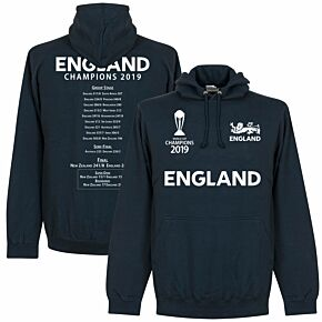 England Cricket World Cup  Winners Road to Victory  Hoodie - Navy