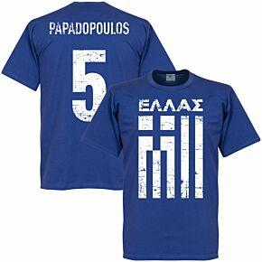Greece Papadopoulos Tee - Royal