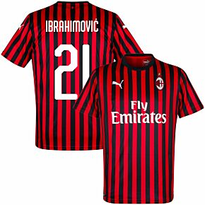 19-20 AC Milan Home Shirt+ Ibrahimovic 21 (Fan Style)