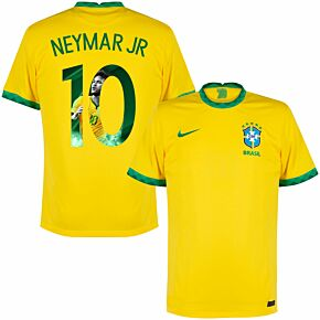 20-21 Brazil Home Shirt + Neymar Jr 10 (Gallery Style)
