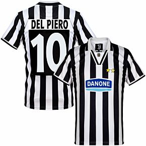 94-95 Juventus Home Retro Shirt + Del Piero 10 (Retro Flex Printing)